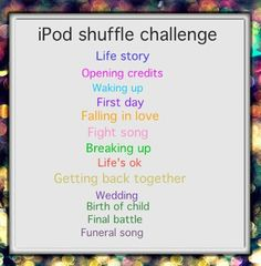 1)I don't wanna miss a thing~aerosmith 2)the sharpest lives~MCR 3)think about you~guns n roses 4)disengage~suicide silence 5)fiend club~the misfits 6)metallica~enter sandman 7)ride the storm~shotgun messiah 8)new religion ~bvb 9)the prisoner~iron maiden 10)aerials ~SOAD 11)take it easy~the eagles 12)don't care 'bout nothin'~shotgun messiah 13)bullet~june divided