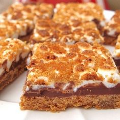 Smores Bars - These bars are amazing! If you like the original, you will LOVE these!