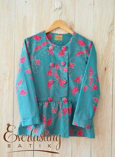 H83 Blouse Batik, Batik Dress, Blouse Styles, Blouse Designs, Pakistani Kids Dresses, Kids Salwar Kameez, Kids Frocks Design, Batik Fashion, Frock Design