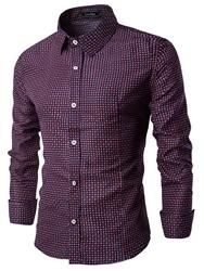 EricDress - EricDress Ericdress Long Sleeve Plaid Vogue Slim Mens Shirt - AdoreWe.com