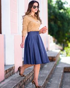 skirt designs for dresses Modest Dresses, Modest Outfits, Skirt Outfits, Classy Outfits, Cute Dresses, Dress Skirt, Casual Dresses, Casual Outfits, Waist Skirt