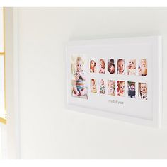 A photograph frame to celebrate baby's first years.