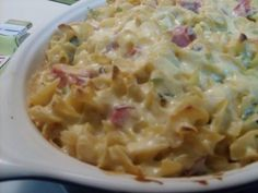 Southern-Style Ham and Noodle Casserole Recipe