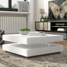Modern Square Coffee Table, Coffee Table Rectangle, Coffee Table With Storage, Coffee Tables, Centre Table Design, Tea Table Design, Centre Table Living Room, Center Table, Living Room Tables