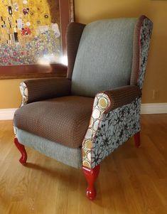 How to Upholster a Wing Chair Yourself. Como Forrar uma Poltrona Voce Mesmo.