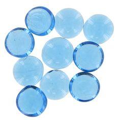 Hobby Lobby 18mm Ocean Blue Decorative Oval Gl Gems