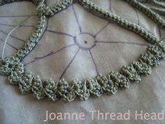 crochet - Thread Head: Intermediate Romanian Point Lace Tutorial - decorative cord / braid and two lovely patterns