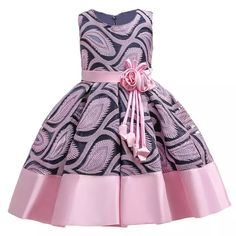 Baby Girls Flower Striped Dress For Girls Unicorn Wedding Party Dresses Kids Princess Christm Baby Girl Dresses baby Christm dress Dresses Flower Girls kids Party Princess Striped Unicorn Wedding African Dresses For Kids, Gowns For Girls, Frocks For Girls, Latest African Fashion Dresses, Little Girl Dresses, Girls Dresses, Party Dresses, Girls Party Dress, Birthday Dresses