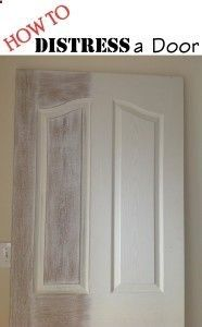 How To Weather Or Distress An Old Door - very easy tutorial explains how you can get this weathered, shabby chic look just by sanding your doors! Distressed Doors, Distressed Furniture, Shabby Chic Furniture, Bedroom Furniture, Painting Furniture, Vintage Furniture, Shabby Chic Bedrooms, Shabby Chic Homes, Shabby Chic Decor