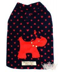 Casaco Ursinho - Preto e Vermelho - Sem Capuz