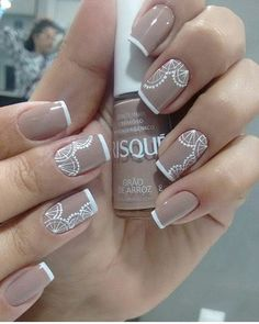WEBSTA @ unhas_admiradas - Cuidado e delicadeza no trabalho com as unhas feitas por @alinelopes0303 Nail Manicure, Shellac Nails, My Nails, Nail Polish, Arroz, Beauty Nails, Hair Beauty, Dotting Tool, Lace Nails