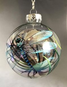 Dragonfly Bauble Ball – The Keilas Painted Christmas Ornaments, Christmas Baubles, Glass Ornaments, Christmas Crafts, Christmas Decorations, Diy Ornaments, Christmas Ideas, Ornament Crafts, Christmas Tree