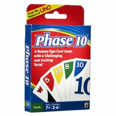 Phase 10 - Card Game - lots of fun can be frustrating though. #cards, #games, #phase-10