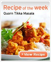 Vegetarian Chicken Tikka Masala Recipe from Quorn Quorn Recipes, Veggie Recipes, Indian Food Recipes, Vegetarian Recipes, Quorn Foods, Uk Recipes, Veggie Meals, Asian Recipes, Chicken Recipes