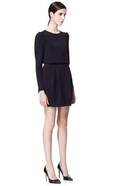 STUDIO DRESS WITH TUCKS ON THE SHOULDER - Dresses - Woman - ZARA United States
