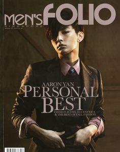Aaron Yan 炎亞綸 on the cover of Singapore magazine Men's folio Asian Boys, Asian Men, Aaron Yan, Magazine Man, Best Icons, Perfect Smile, Asian Actors, Stylish Men, Actors & Actresses
