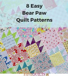 One of the most traditional and easily recognizable American quilt patterns is the classic bear paw pattern. Take part in tradition and find the bear paw pattern that's perfect for your next quilt project with this list of easy bear paw patterns.