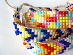 beaded friendship bracelets - tutorial by Sarita creative.