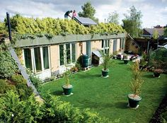 """Earth-Sheltered"" housing- Honingham, Norfolk- Zero carbon emissions & very little running costs. Earth Sheltered Homes, Sheltered Housing, Natural Building, Green Building, Eco Buildings, Unusual Buildings, Earthship Home, Off Grid House, Living Roofs"