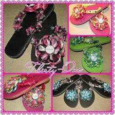 Thirty-One Flip Flops - this listing is for 1 pair on Etsy, $14.50