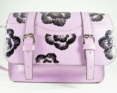 d3b5ec512f06 studs and pearls  diy  Painted Floral Purse tutorial