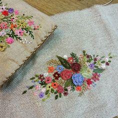 #Embroidery#stitch#needlework  #Hemp#cross bag #프랑스자수#일산프랑스자수#자수#햄프린넨#크로스 백 #이쁜 딸 하와이여행때  필요한 크로스 백 만들어주기~