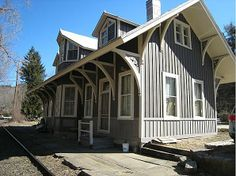 Redone former train station in Cornwall Bridge has many of the former station's features. The main level has the original high ceilings with large living room, eat in kitchen; the original ticket offices serves as a study or office. Upstairs are a den and the bedrooms as well as full bath. Just outside your front door are the river and state land. #zillow