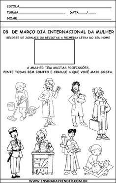 ATIVIDADES DO DIA INTERNACIONAL DA MULHER | Cantinho do Educador Infantil