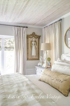 Transforming a master bedroom in a vintage French Country home. Country Master Bedroom, French Country Bedrooms, French Country Living Room, Home Bedroom, Bedroom Decor, French Cottage, Country Kitchen, Romantic Cottage, Romantic Homes