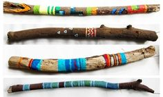 Painted Wood Branches 1