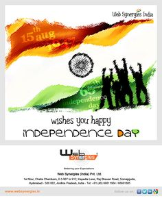 WISHING ALL INDIANS A VERY HAPPY INDEPENDENCE DAY  #India #independence # day # 15 Aug #celebration Happy Independence Day India, Ecommerce Solutions, Are You Happy, Celebration
