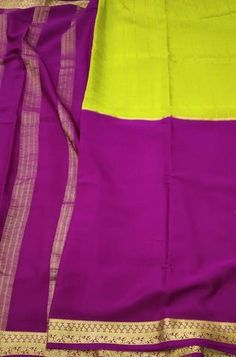 Details Mysore silk saree are world renowned saree. Karnataka, silk is mainly produced in the... Yellow Fabric, Silk Fabric, Woven Fabric, Crepe Silk Sarees, Silk Crepe, Mysore Silk Saree, Karnataka, Pure Products, Clothes