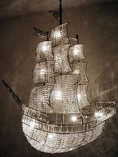 I Can Smell the Saltwater. This chandelier is just to die for, and so fitting… Lamp Light, Light Up, Room Themes, Chandelier Lighting, Crystal Chandeliers, Chinoiserie, Lighting Design, Decoration, Light Fixtures