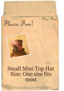 DIY mini top hat with video tutorial & free pattern