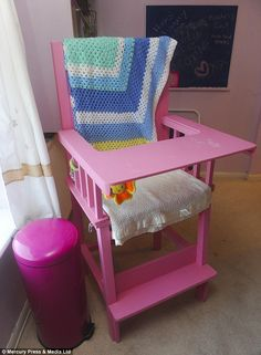 Guests can sit in nappies and watch television or eat in adult-sized high chairs...