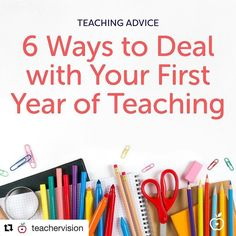 Are you a new teacher? Dont let the stresses of teaching get to you! Read about 6 things you can do right now and throughout your first year to help you make this the #BestYearEver! #repost  @teachervision  How can you make your first year of teaching your Best Year Ever? Veteran teacher @theuniqueclassroom can tell you! Link to her new blog post is in our bio! #firstyearteacher
