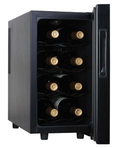 For all wine enthusiasts, Haier HVTM08ABS 8-Bottle Wine Cellar with Electronic Controls should be in your wish list.