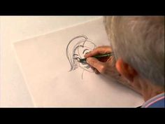 Don Bluth shows his method for drawing Anastasia from the 20th Century Fox animated film.  Really cool!!