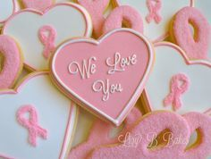 breast cancer awareness cookie bouquet - Google Search