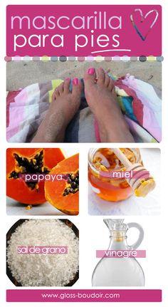 Mascarilla casera para pies suaves   www.gloss-boudoir.com