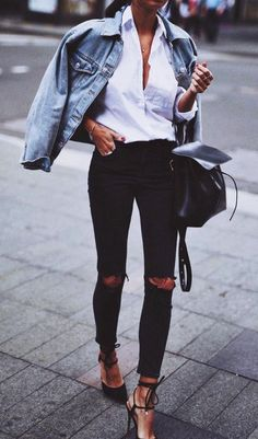 #Preppy #DenimJacket #Spring #Summer || Ways-to-Wear-Denim-Jacket-Like-a-Model  || Denim Jacket Outfits || Cute Spring Outfits || Summer Outfits Ideas  || Cute Outfits