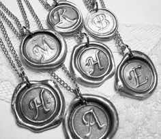Love these wax seal necklaces. Just received as a gift from my sister in law