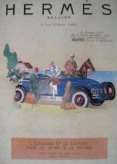 Vintage French Graphic Poster - Hermes