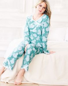 Asian Wrap Pajamas by Garnet Hill - Customer Favorite made of pure eco-friendly Green Cotton.