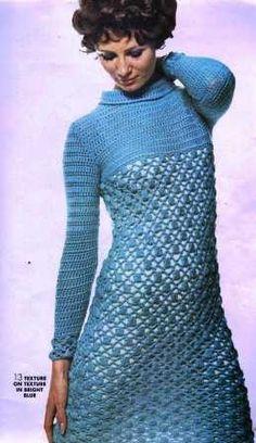 Textured Openwork Crochet Dress Pattern  PDF by suerock on Etsy, $4.25