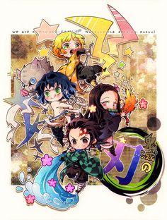 Read Demon Slayer Manga Online in Hight Quality. Chibi, Anime Demon, Cute Pokemon, Slayer Anime, Anime Friendship, Demon, Manga, Chibi Drawings, Anime Chibi