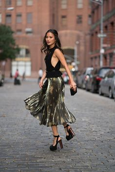 NYFW Photographed by Francois- Xavier Watine @WebStyleStory (Pictured below!) Skirt by Suno, Top by Cushnie