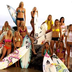 surfing with the girls