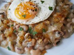 Recept Fazole na cibulovém základu - Naše Dobroty na každý den Quinoa, Eggs, Breakfast, Ethnic Recipes, Food, Bulgur, Morning Coffee, Essen, Egg