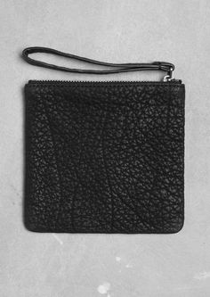 & Other Stories square leather pouch